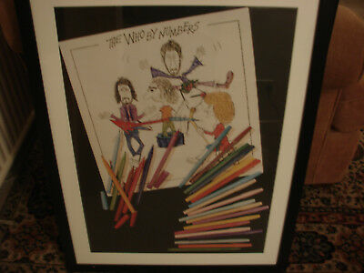 The Who  Who By Numbers    Orig John Entwhistle designed promo Poster  Framed