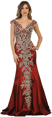 Prom Evening Special Occasion Dress Stretchy Fitted Red Carpet Long Formal Gown