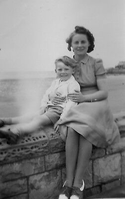 1940's Amateur Photograph - Woman/Mother/Son/Boy/Day Trip/Social History/Holiday