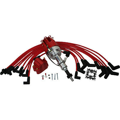 New Pro Billet Ignition Distributor W/ Coil and Wires For Ford 289 302 5.0L V8