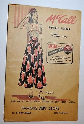 McCall Style News May 1942
