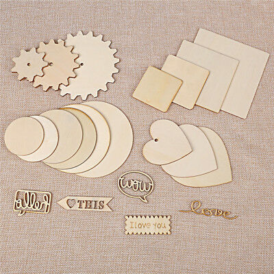 Sculpture Graffiti WordArt Wood Chip Heart Round Gear Square Letters Decorations