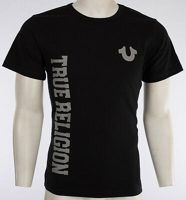 $44 TRUE RELIGION Horseshoe T-SHIRT Black Grey KIDS BOYS YOUTH SIZE LARGE L NWT