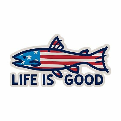 Life is Good.A Decal Fish Flag Misc