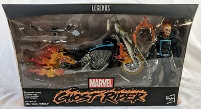 """Marvel Legends Ghost Rider with Flame Cycle 6"""" Ultimate Avengers Motorcycle W1"""