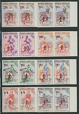 Dominican Republic 1959 MNH Imperforate Pairs | Semi-Postal | B26-B30  CB16-CB18