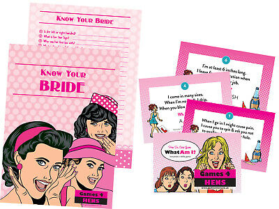 KNOW BRIDE + WHAT AM I DUO SAVER Innuendo Riddles keepsake hen party do game fun