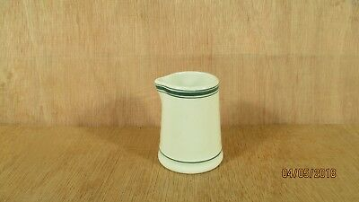 John Maddock & Sons Ltd. Restaurant Ware Green Stripe Creamer Marshall Wells