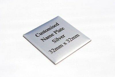 TROPHY PLATE Gold or Silver SQUARE Customised PREMIUM Quality METAL NAME PLAQUE