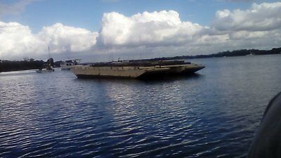 36ft military barge (Bailey bridge) Aluminium twin hull