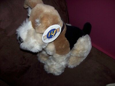 """Gorgeous HY PLUSH Airedale Terrier Dog Toy Figure 13"""" High Very Soft Welsh Pup"""