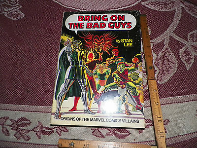 Bring on the Bad Guys Marvel Fireside Hardcover HC HB Dust Jacket Rare Stan Lee