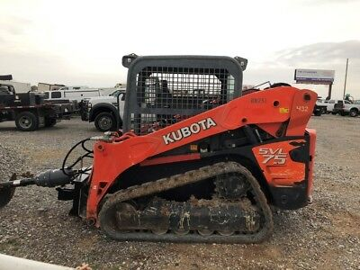 2011 Kubota SVL75 Used Track Skid Steer Loader Joystick 2 Speed