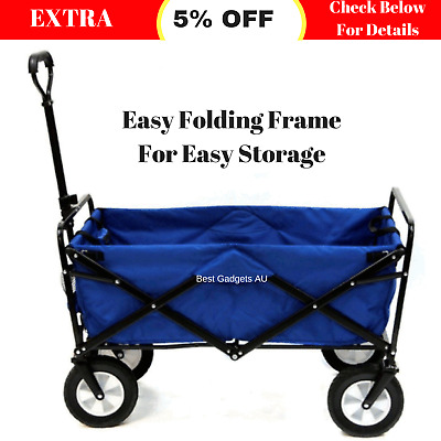 Foldable Beach Trolley Collapsible Camping Cart Multipurpose Outdoor Storage