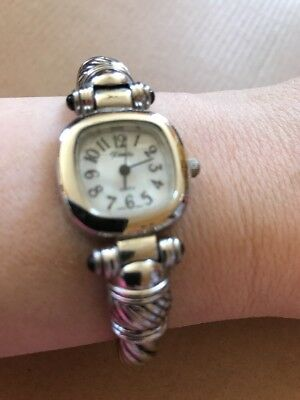 Xanadu Beautiful Rope Design Clamper Watch W/mother Of Pearl Face- New Condition