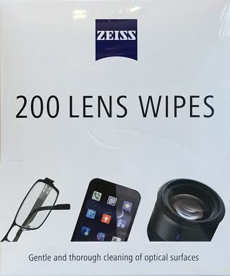 Zeiss Optical Lens Cleaning Wipes Glasses Phone Screen Camera Packs Of Up To 200