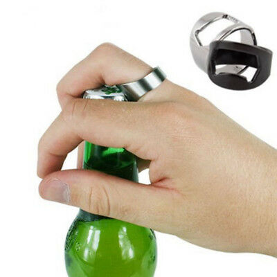 Bar Tool Ring-Shape Stainless Steel Bottle Opener Finger Ring Beer Opener