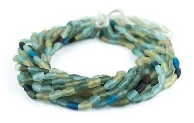 Oval Ancient Roman Glass Beads 6mm Afghanistan Green 15 Inch Strand
