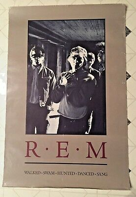 R.E.M. Walked Swam Hunted Danced Sang Poster 1986 Life's Rich Pageant REM