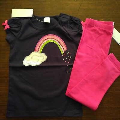 NWT Gymboree Outlet Mix 'n Match Sequin Rainbow Top/Leggings Size 5 6 7 8