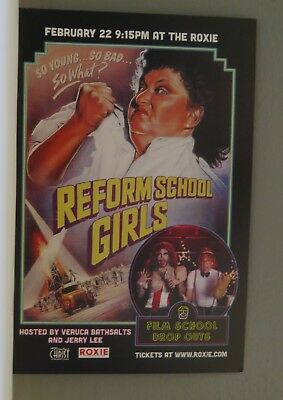 REFORM SCHOOL GIRLS Movie Onesheet Ad card for the screening at the ROXIE in San