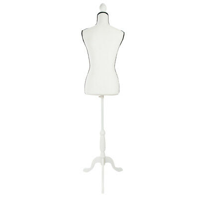 Stand Half-Length Hollow Foam Coating Lady Mannequin for Clothing Display Creamy