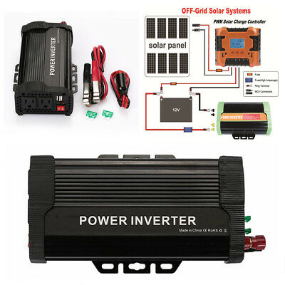 Car Solar Power Inverter 1000W Peak 12VDC To 110VAC Modified Sine Wave Converter