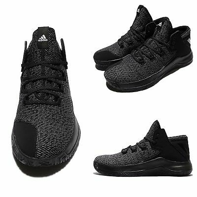 super popular 3bb59 ccd62 Adidas Rise Up Grey Black White Men Basketball Shoes Sneakers BB8244