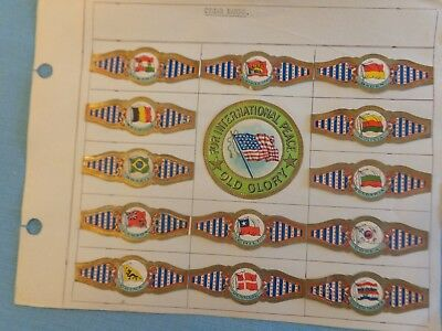 1930s For International Peace,51 Cigar Bands with National and Regional Flags
