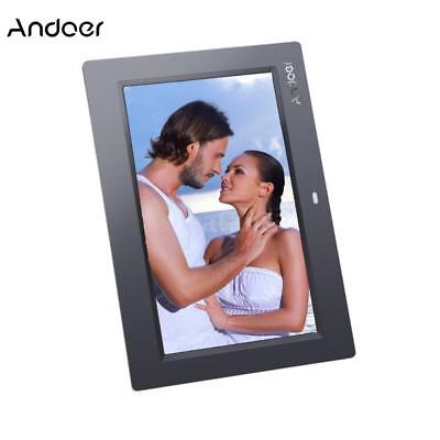 10''TFT LCD HD Digital Photo Frame Picture Alarm Clock MP3/4 Player+Contorl V2B2