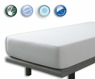Bed Mattress Protector New Waterproof & Breathable Aloe Vera Set of 2 King Size