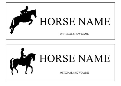Custom Made HORSE NAME Plate Stable Door Sign Gold or Silver Horse Name Plaque