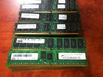 Lot of 32 IBM 4GB DDR2 15R7172 512MX72 ECC Ram ( 32 x 4GB )