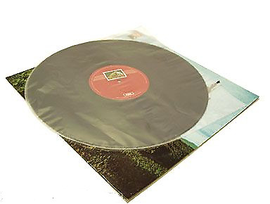 "100 pieces - vinyl record inner sleeves 12""  round bottom half moon style"