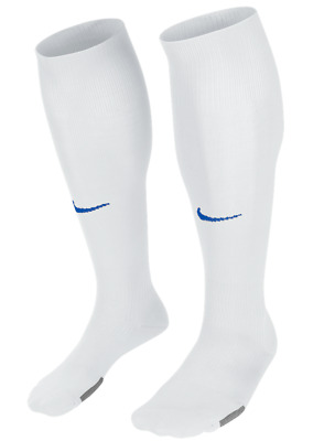 Nike Park IV Football Socks White & Royal. Sizes L & XL