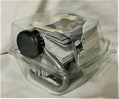 Rolodex Open Rotary (Business) Card File w/200 2-5/8 X 4 inch Sleeved Cards
