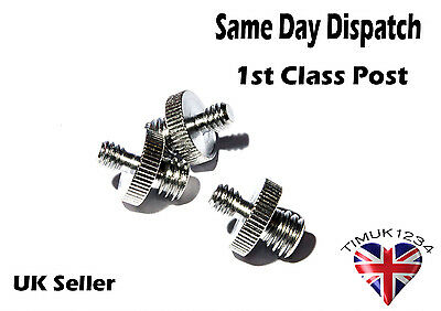 """3 x Male 1/4"""" to 3/8"""" Male Thread Screw Adapters for Tripods , Flash Brackets"""