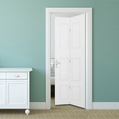 Moulded 6 Panel Doors White Primed Internal Folding Bi-fold Double Door