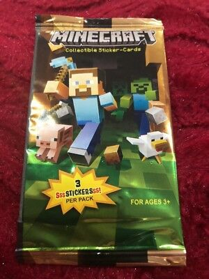 Mine craft Collectable Sticker-Cards Sealed