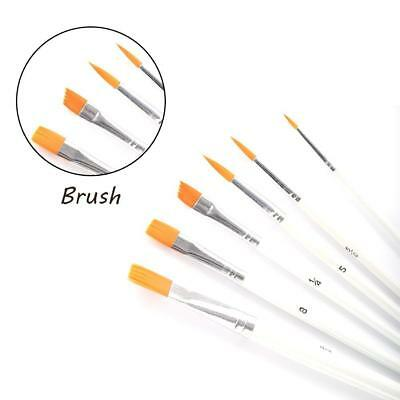 6 X Painting Acrylic Oil Watercolors Artist Paint Brushes Stationery Pop Supply