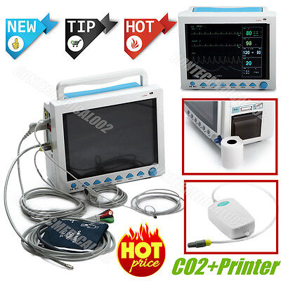 FDA CE ICU Patient Monitor,With CO2+Printer, 6 Parameter Vital Signs Monitor,USA