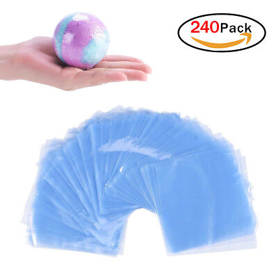 240pcs Clear Shrink Wrap Bags Heat Seal Shrink Bags for Soaps Bath Bombs DIY