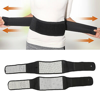 UK 16 Magnetic Heat Waist Belt Brace For Lower Back Pain Relief Therapy Support