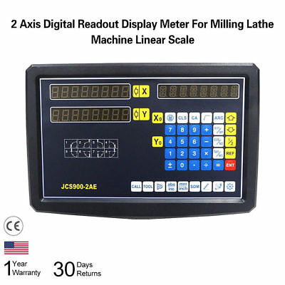 Digital Readout DRO Kit For Mill Lathe Grinder 2 Axis Display 2-Linear Scale BMG