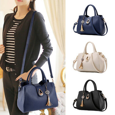 Women Handbag Shoulder Zip Bag Messenger Large Tote Leather Ladies Purse Fashion