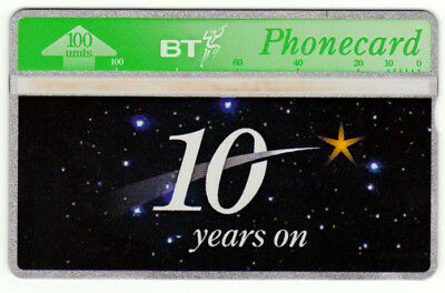 BT Commemorative 127, 10 Years On, 100U mint phonecard. catalogued £25.00