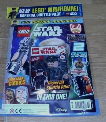Lego Star Wars magazine #32 2018  + Ltd Ed Imperial Shuttle Pilot MiniFigure