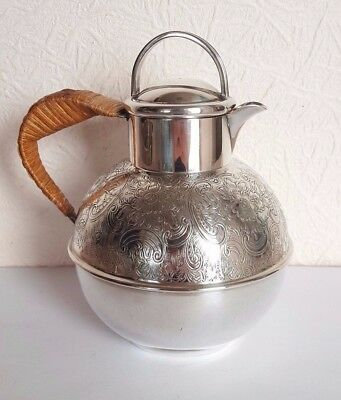 Vintage SILVER Plated GUERNSEY CREAM JUG by A.Baker & Sons Warrington 1 1/2 Pint