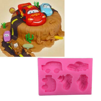 DIY Car Sugarcraft Cake Silicone Mold Cake Fondant Cookies Mould Baking Tools