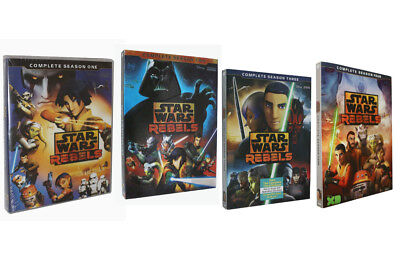 Star Wars Rebels:Complete Seasons 1 2 3 4 First Second Third Fouth (DVD) Bundle